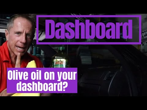 Cleaning Dashboard: Using OLIVE OIL To Clean Dash??????