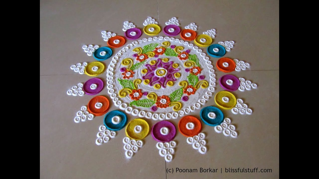 Papercraft Beautiful and innovative multicolored  rangoli | Creative rangoli designs by Poonam Borkar