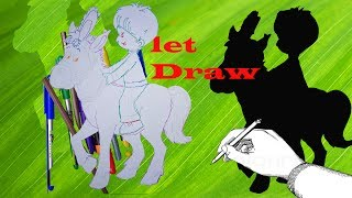 how to Draw A Horse Head with horse drawn carriage