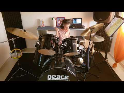 """Queen - The show must go on"" Drum cover Antonio Palumbo 6 anni"