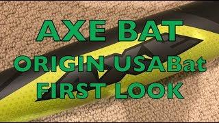 Axe Bat Origin -8 USABat Baseball Bat 1st Look Review - True Weight & More