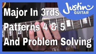 Major Scale In 3rds (Patterns 4 and 5) A Melodic Approach To Scale Practice Guitar Lesson