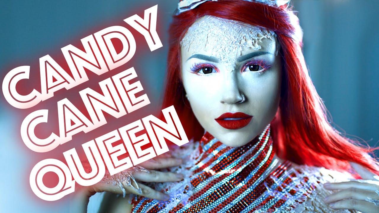 Candy Cane Queen Makeup Tutorial Youtube - Gore-makeup