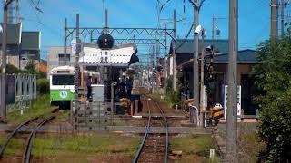 先頭展望 四日市あすなろう鉄道 内部ーあすなろう四日市 普通