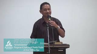 SS Dewasa Triwulan 1 2019 Pelajaran 4 Saat Anak Domba Duduk di Atas Takhta-Nya - Pdt. Tjandra Paulus