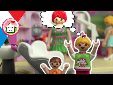 Playmobil en français La famille Hauser chez le coiffeur