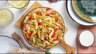 [EN] Tuna Pasta Salad / سلطة المعكرونة مع التونة - CookingWithAlia - Episode 743
