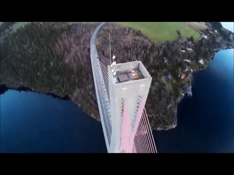 drone Skarnsundbrua norway walkera qrx 350 pro g2d ilook+ cable bridge