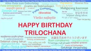 Trilochana   Languages Idiomas - Happy Birthday