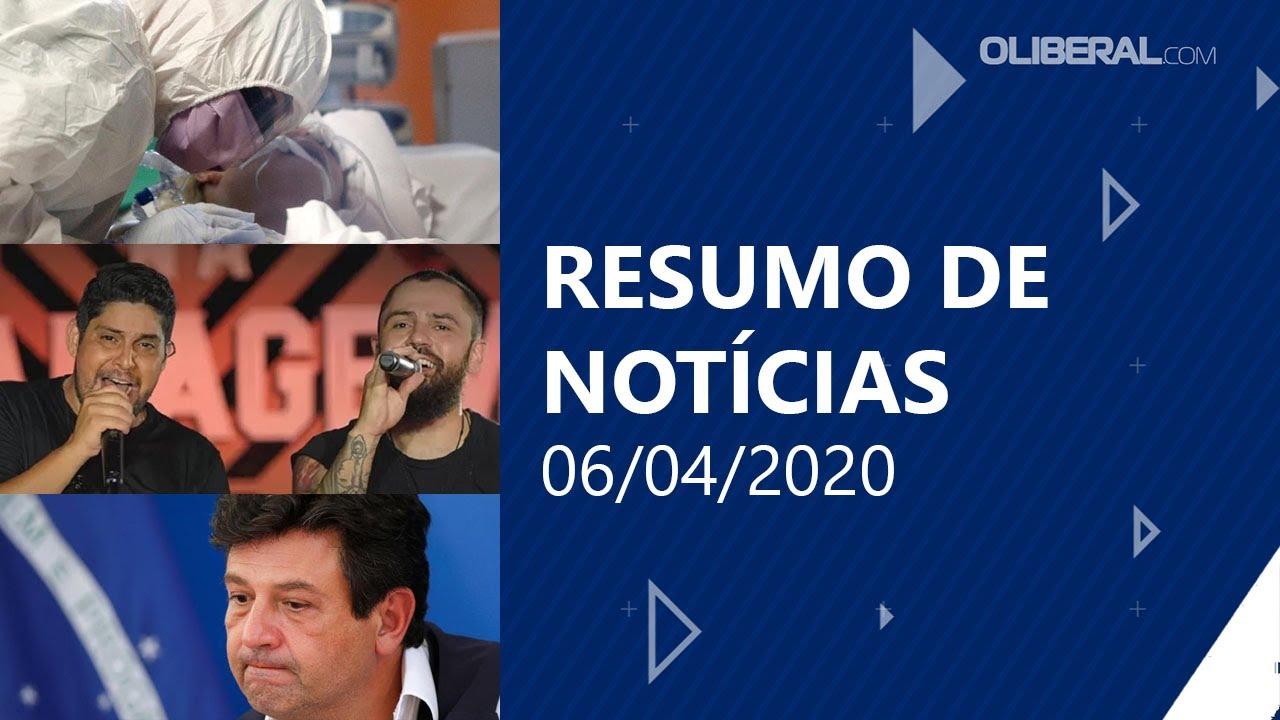 Pará registra 4ª morte por Covid-19 | Resumo de Notícias 06/04/2020
