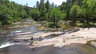 Family Camping at River Falls (Drone Footage)