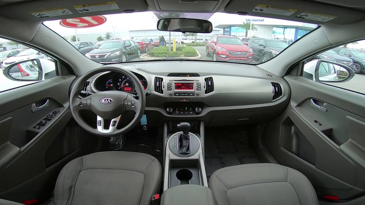 2012 Kia Sportage Lx Interior Youtube