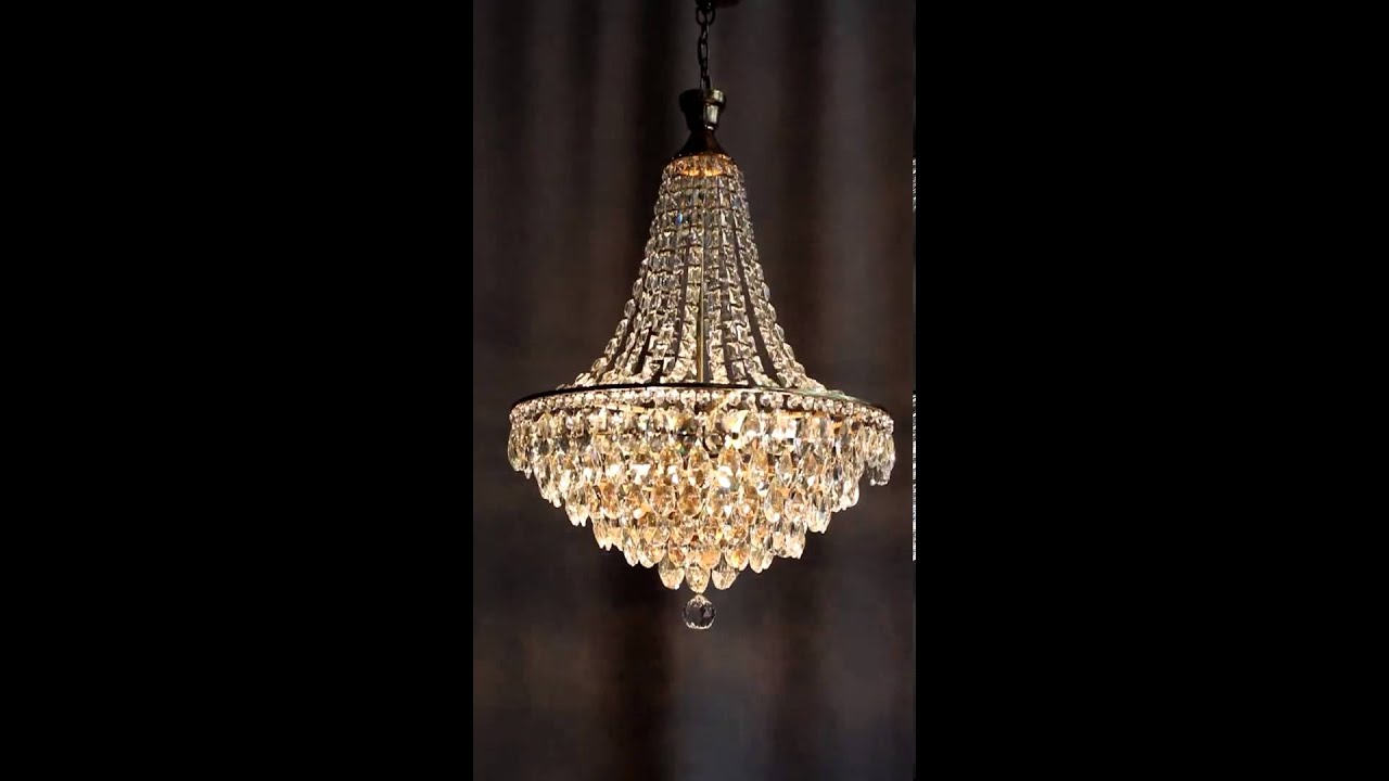 kristall kronleuchter l ster chandelier lampe luxus youtube. Black Bedroom Furniture Sets. Home Design Ideas