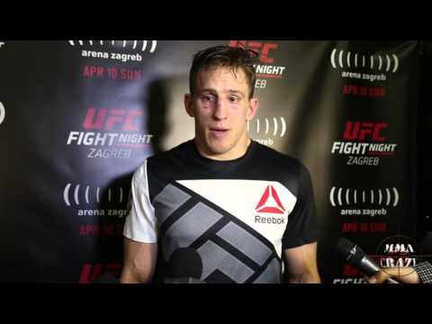 Bojan Velickovic UFC Fight Night Zagreb Post Fight Media Scrum
