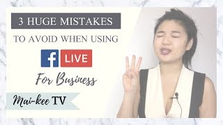 3 BIGGEST MISTAKES Entrepreneurs Make on Facebook Lives!