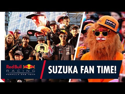 How to say I love you. A fan time for Daniel Ricciardo and Max Verstappen in Japan!