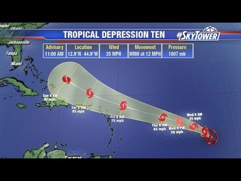 Tropical weather forecast: