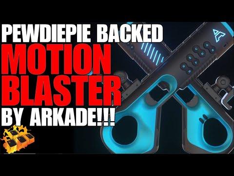*NEW* PEWDIEPIE BACKED MOTION BLASTER! ARKADE BLASTER!! SMARTPHONE BLASTER!! ARKADE BLASTER REVIEW!!