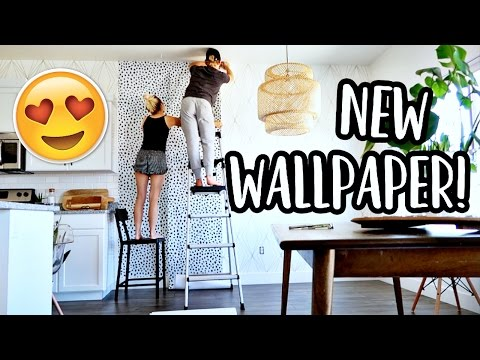 PUTTING UP OUR NEW WALLPAPER!