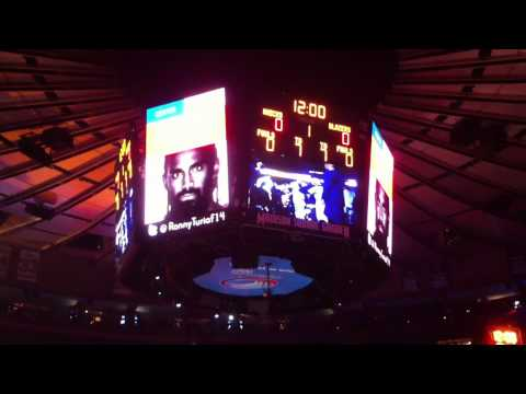 New York Knicks  home opener 2010-2011
