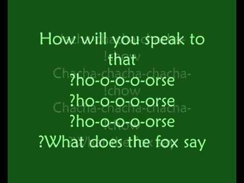 ylvis the fox lyrics youtube
