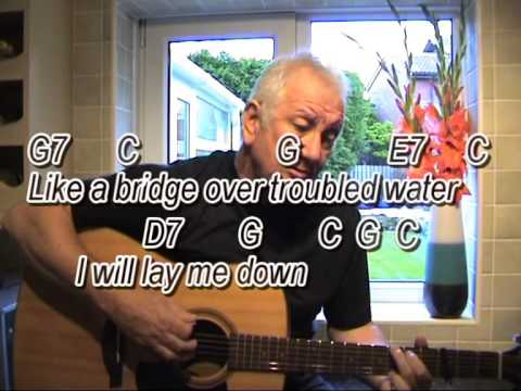 Bridge Over Troubled Water - acoustic cover-easy chords guitar ...