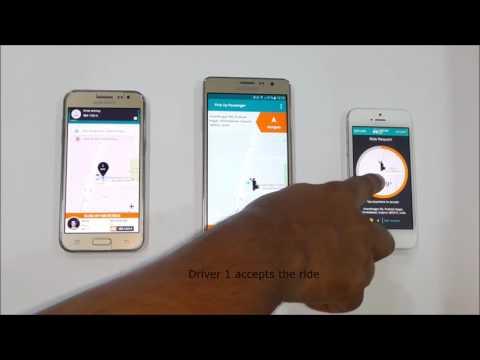 Uber Taxi Clone App  Uber Clone  Demo   Jan 2017 Version  V3Cube