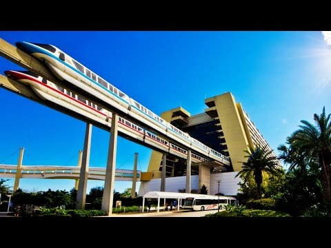 Walt Disney World Resort Monorail FULL CIRCUIT 60fps POV On-Ride Magic Kingdom GoPro