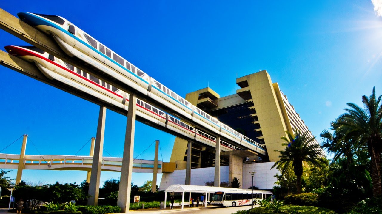 Walt Disney World Resort Monorail Full Circuit 60fps Pov On Ride Magic Kingdom Gopro You