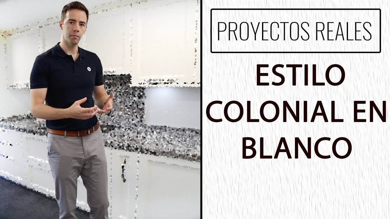 Dise o de cocinas estilo colonial en blanco youtube for Diseno lavadero