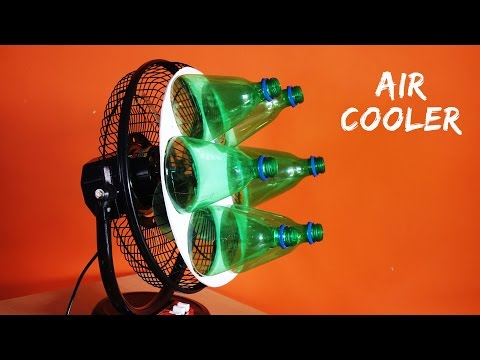How to make Air Cooler at home using Plastic Bottle - Eco Cooler