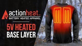 ActionHeat Battery Heated Base Layer Shirt