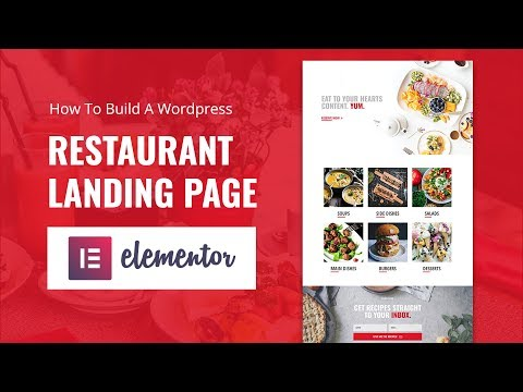 How To Build A Wordpress Restaurant Landing Page in Elementor