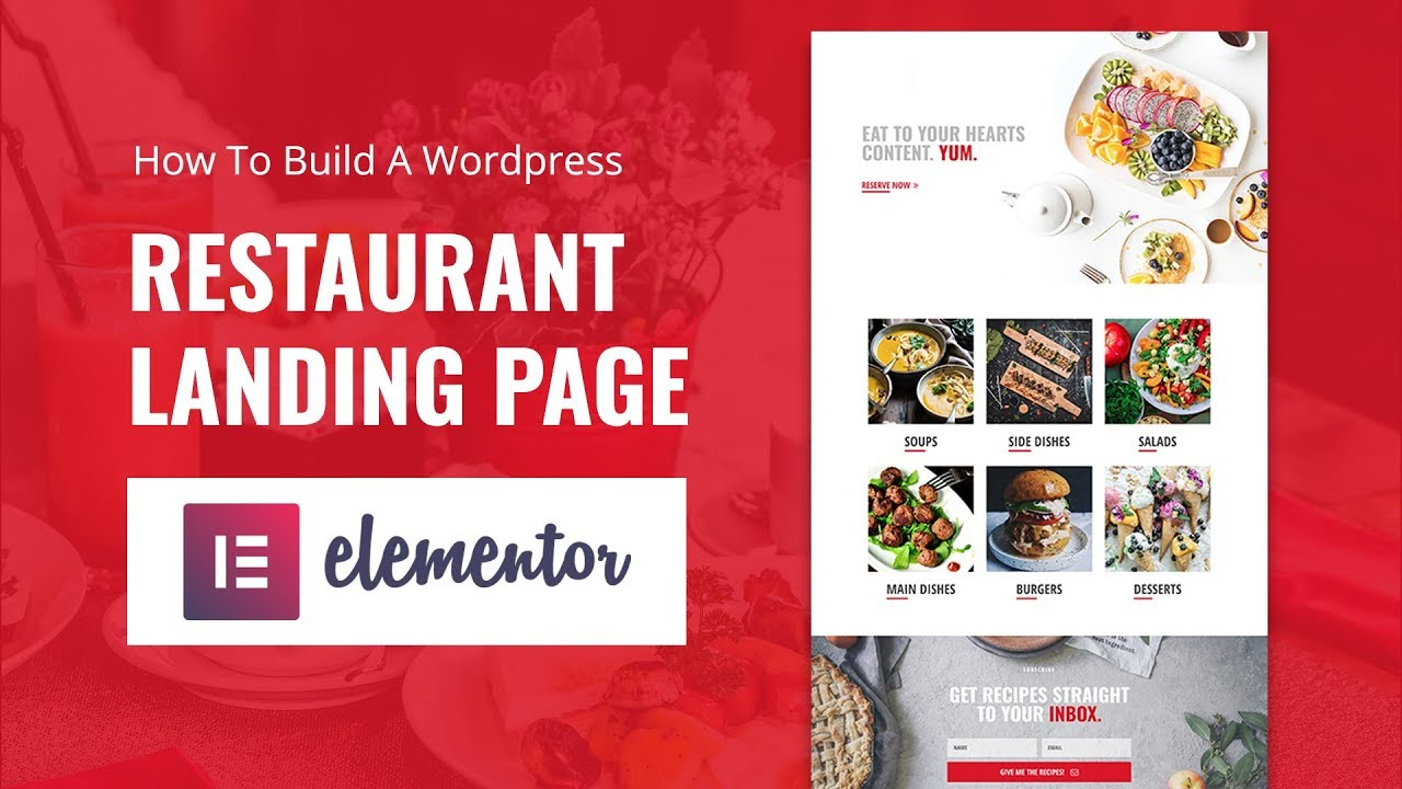 How To Build A WordPress Restaurant Landing Page In Elementor Youtube