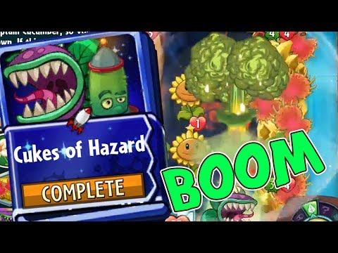 Plants vs Zombies Heroes Chompzilla Strategy Deck - Cukes of Hazard - Eliminate them ALL