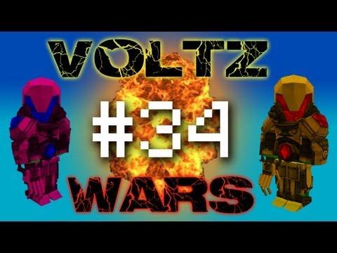 Minecraft Voltz Wars - Building Laser Turrets #34