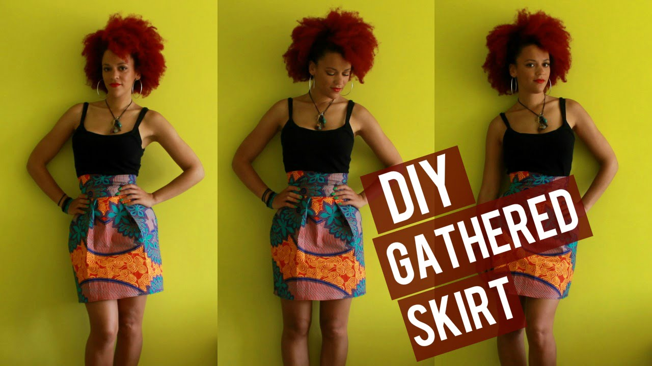 7f8e7c6c5 🇬🇲 DIY Gathered African Print Skirt + 10% DISCOUNT CODE FABRICS 🇬🇲  Gambia Culture Couture - YouTube
