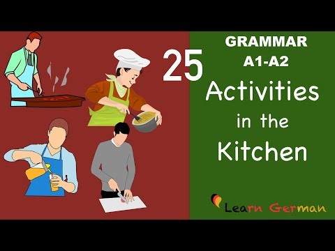 Learn German | German for daily use | 25 important verbs in the Kitchen | Verben in der Küche