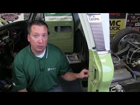 1960-66 Chevy GMC Truck Door Weatherstrip Installation Precision DWP 1113 60