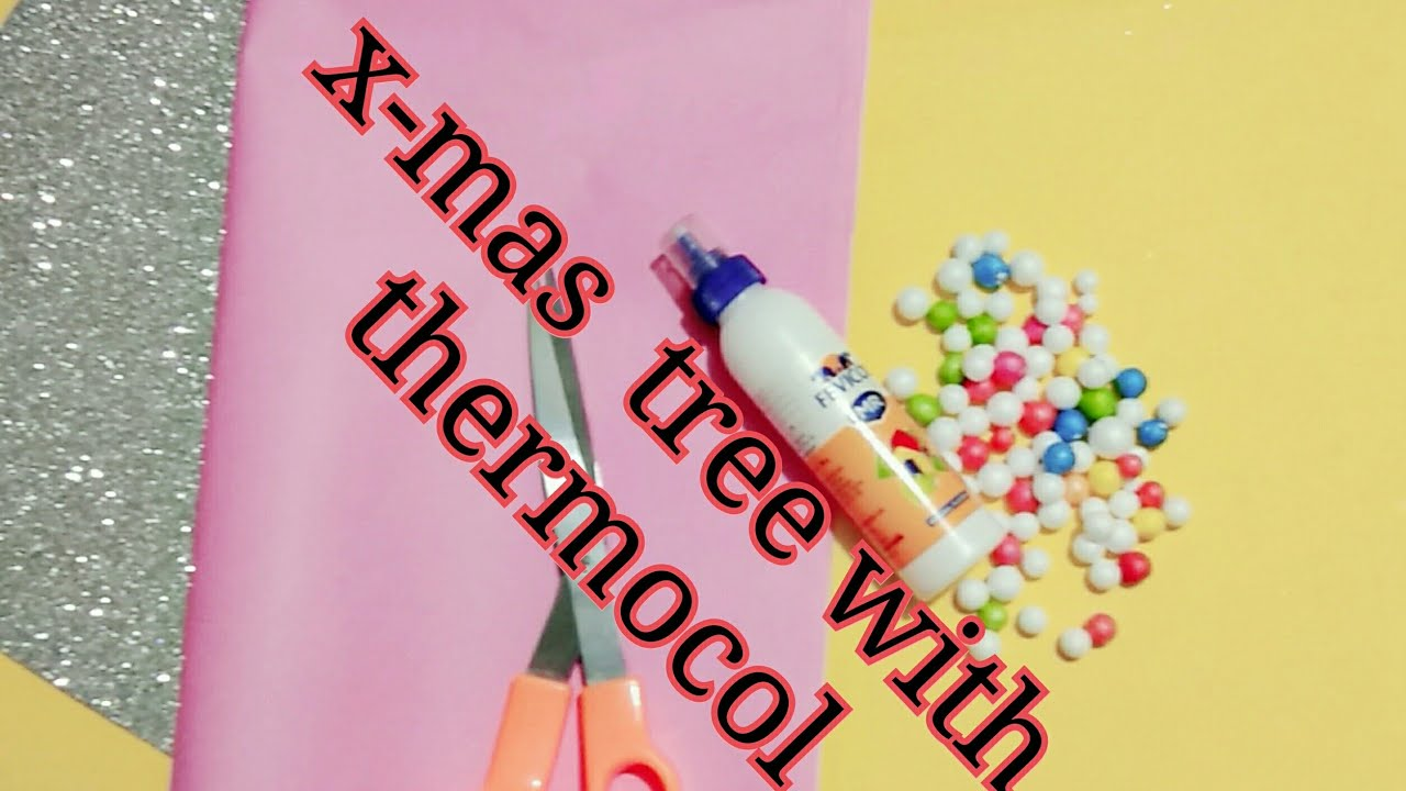 #christmastree #howtomake How to make x-mas tree with thermocall - YouTube