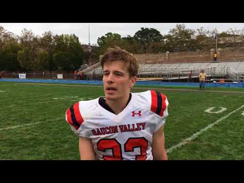 Saucon Valley football's Zach Petiet after win over Wilson