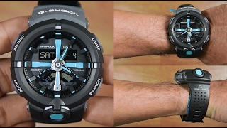 """CASIO G-SHOCK GA-500P-1A """"One-press stopwatch"""" - UNBOXING"""