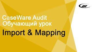 Обучающий урок Import & Mapping | CaseWare Ukraine