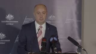 Austrac Press Conference On Tabcorp Ruling   16 March 2017