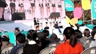 [직캠]하나은행 한마음축제,141025,AOA 인사