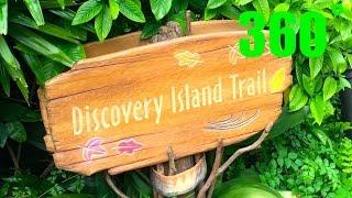 Animal Kingdom INTERACTIVE Discovery Island Trail 360˚ VR Walk Through HD Walt Disney World