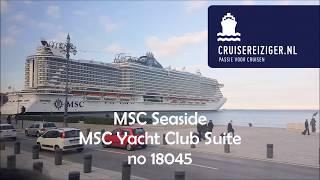 MSC Seaside MSC Yachtclub Deluxe Suite no 18045: 70 suites are avai...