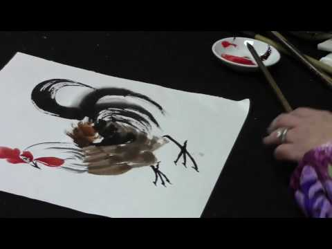 Chinese Brush Painting: Year of The Rooster