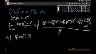 Bir fonksiyonun kuvvetinin türev formülünün ispatı Video