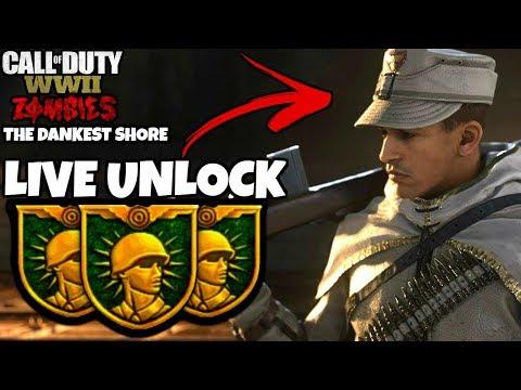 "SLAYER OF CASABLANCA UNLOCKED!!! ""The Darkest Shore"" ! | Call Of Duty: WW2 Zombies LIVE"